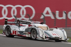 Tréluyer driving the Audi R18 R18 e-tron quattro at the 2012 6 Hours of Fuji
