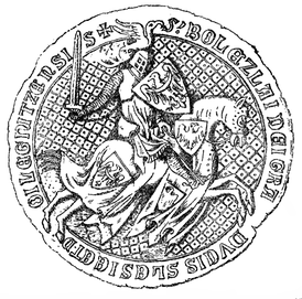 Bolesław III's seal, dated to 1337.