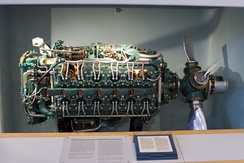 Napier Sabre H-24 engine (starboard side)