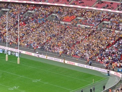 Castleford supporters at Wembley during the 2014 Challenge Cup Final.