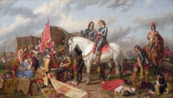 Cromwell in the Battle of Naseby in 1645. Charles Landseer.