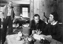 Harry Shannon, George Coulouris and Agnes Moorehead