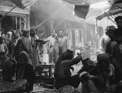 A souk (traditional market) in Mosul, 1932