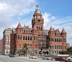 The former Dallas County Courthouse houses the Old Red Museum, displaying artifacts from Dallas County history