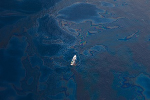Aerial view of the BP Deepwater Horizon oil spill in 2010.