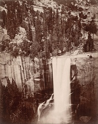 Photo of Vernal Falls at Yosemite by Eadweard Muybridge, 1872