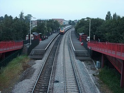 East Garforth station in 2006