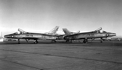 F-100As different tail fins, 1955