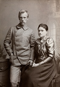 Fridtjof Nansen and Eva Nansen in autumn 1889