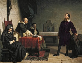 Cristiano Banti's 1857 painting Galileo facing the Roman Inquisition.