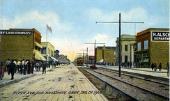 5th Ave and Broadway in 1908