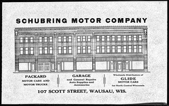 1916 Advertisement for a Wausau Wisconsin Glide Dealership serving North Central Wisconsin