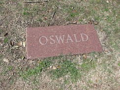 Oswald's replacement gravestone