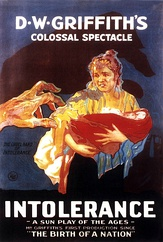 Theatrical posters for L'Inferno and Intolerance, often credited by cinema historians as the first art films.