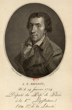 Jacques Pierre Brissot (1754–1793), who organized the Society of the Friends of the Blacks in 1788.