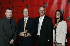 Joe McMaster and the crew of NOVA-Judgement Day at the 67th Annual Peabody Awards