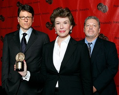 John Goldwyn, Sara Colleton and Jeff Lindsay at the 67th Annual Peabody Awards for Dexter