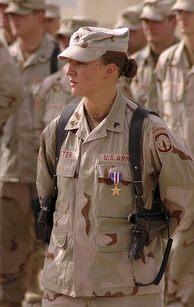 Sergeant Leigh Ann Hester, awarded the Silver Star for direct combat