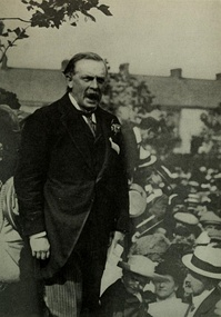 David Lloyd George in 1912, during the height of the WSPU militancy action.