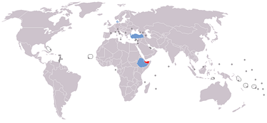 Map of diplomatic missions in Somaliland   Somaliland   States with consulate or representative office in Somaliland
