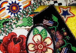Examples of contemporary Native American beadwork