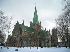 Nidaros Cathedral, Norway, became Lutheran at the Reformation