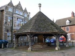 A buttercross in Oakham