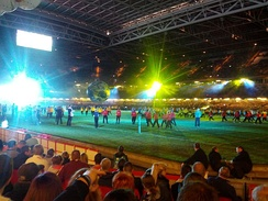 The opening ceremony of the 2013 Rugby League World Cup