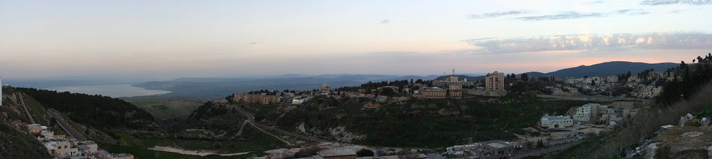 View to the east and Lake of Kinneret  Sunset (Kabbalistic inspiration)