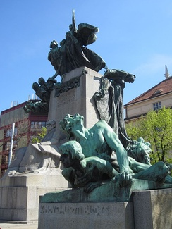 Monument of František Palacký in Prague, nicknamed Father of the Nation, considered to be father of Czech nationalism