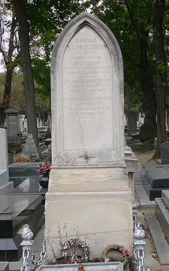 Proudhon's grave in Paris