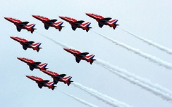 The Red Arrows at Southport Airshow in 2009