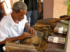 Cigar production in Santiago de Cuba