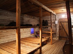 Shack from Gulag – reconstruction in Museum of the Occupation of Latvia