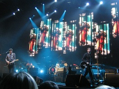 Snow Patrol performing at the Sheffield Arena in March 2009