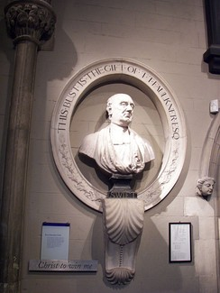 Bust in St Patrick's Cathedral