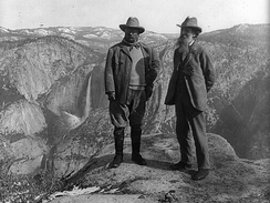 Theodore Roosevelt and John Muir in Yosemite National Park, c. 1906