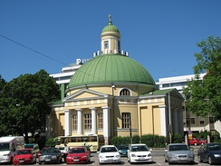 Church of the Holy Martyr Empress Alexandra in Turku, consecrated 9 September 1845.