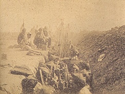 Allied troops entrenched in the Battle of Tuyutí