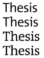 Serifs within the Thesis typeface family