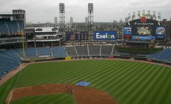 Guaranteed Rate Field (then U.S. Cellular Field) in 2005 with the new Fundamentals Deck in left field