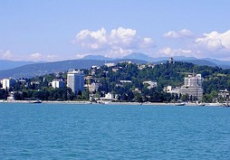 Sochi seen from the Black Sea