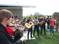 Mariachi Group playing at the 10th anniversary celebration of Wikipedia in Guadalajara.