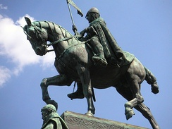 Statue of Saint Wenceslas on the eponymous square in Prague