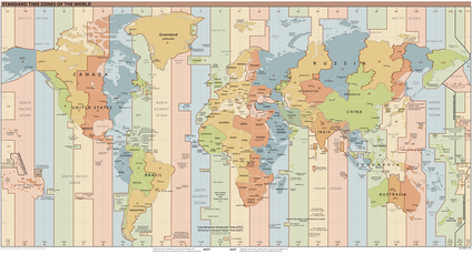 This 2020 time zone map gives an example of the way time zones are mapped out.