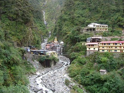 Yamunotri temple, one of holiest shrines of Hinduism lies in the district, as does its source