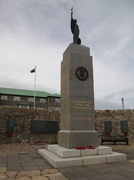 The 1982 Liberation Memorial in Stanley, Falkland Islands[nb 9]