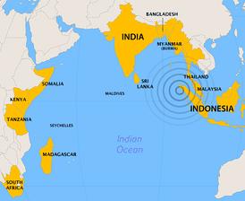 Страны, наиболее пострадавшие от цунами и землетрясения