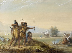 Snake Indians - testing bows, circa 1837 by Alfred Jacob Miller, the Walters Art Museum