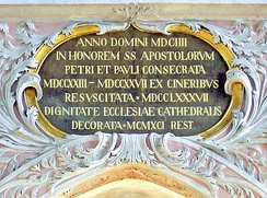Anno Domini inscription at Klagenfurt Cathedral, Austria